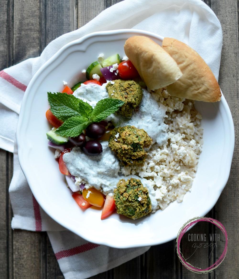 easy 20 min falafel dinner